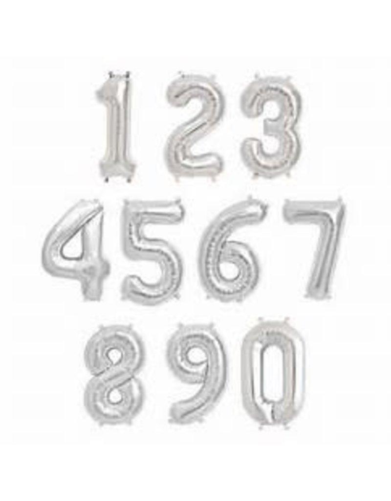 "16"" Silver Number Mylars"