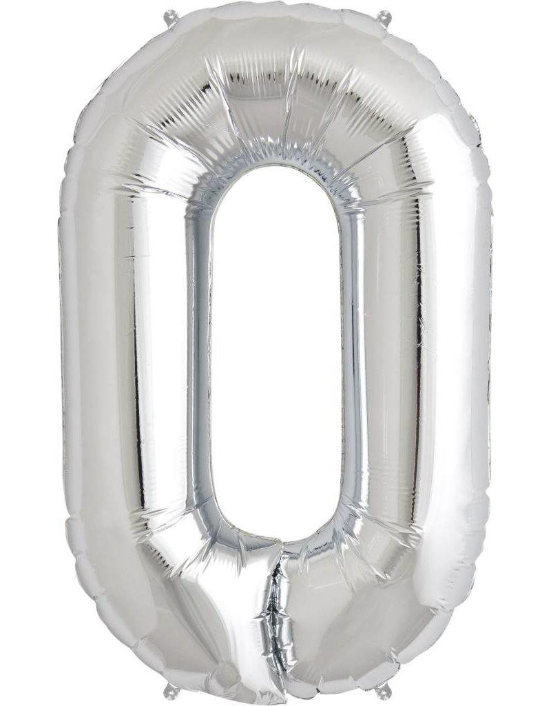"""34"""" Silver Foil O Balloon"""