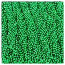 One Gross Green Throw Beads