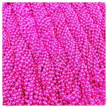One Dozen Throw Beads Hot Pink