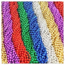 One Dozen Throw Beads Asst. Colors