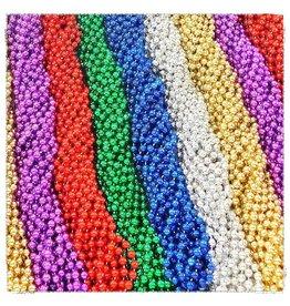 One Dozen Throw Beads Asst. Colors