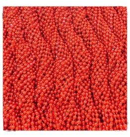 One Dozen Throw Beads Red