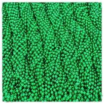 One Dozen Green Throw Beads