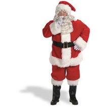 Santa Suit Complete 10 piece set Red