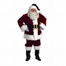 Santa Complete Set 10 piece Burgundy