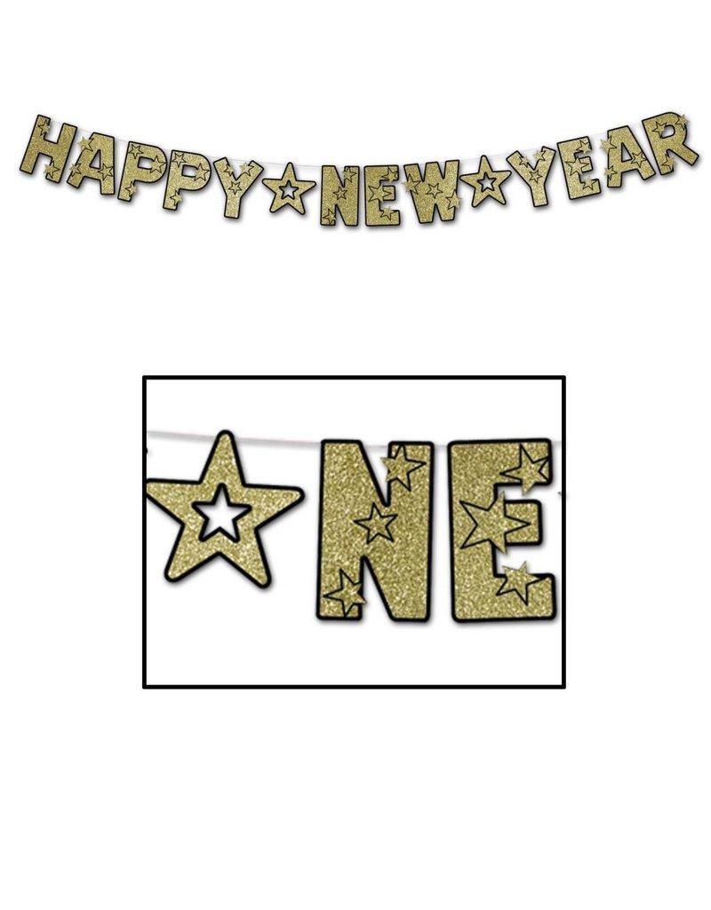 new year streamer black gold
