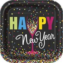 "New Year Confetti 7"" Plate"