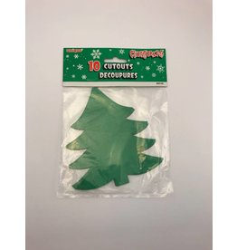 Mini Cut Outs Xmas Tree 10 count