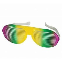 Mardi Gras Jumbo Slotted Glasses