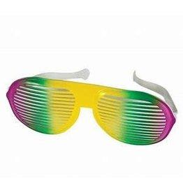 Mardi Gras Jumbo Slotted Glasses