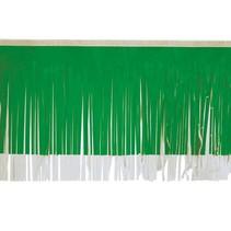 "Fringe green & White 15""x10'"
