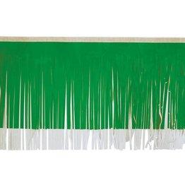 """Vinyl Fringe Green & White 15""""x10'"""