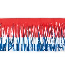 "Fringe 15""x10' red, white & blue"