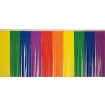 """Vinyl Fringe 15""""x10' Rainbow"""