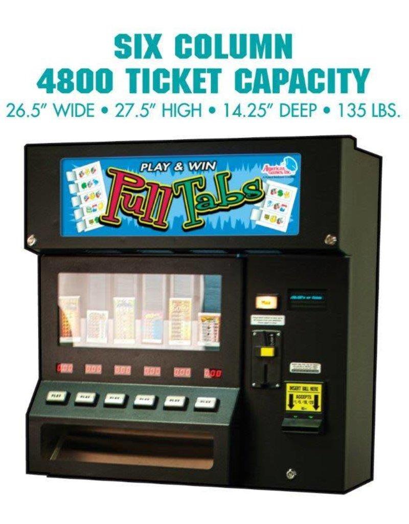 4800 Six Column Pulltab Vending Machine