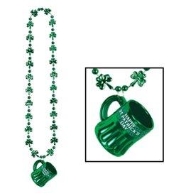 Shamrock Beads with St Pat mug