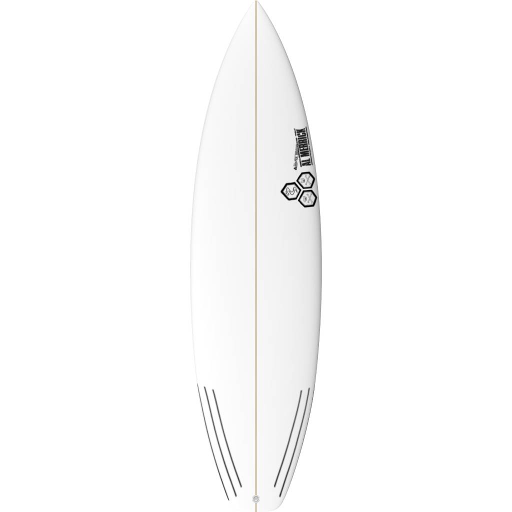 CHANNEL ISLANDS SURFBOARDS 5'11 BLACK AND WHITE FUTURES
