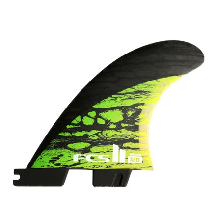 FCS FCS2 MB PC CARBON GREEN TRI MEDIUM
