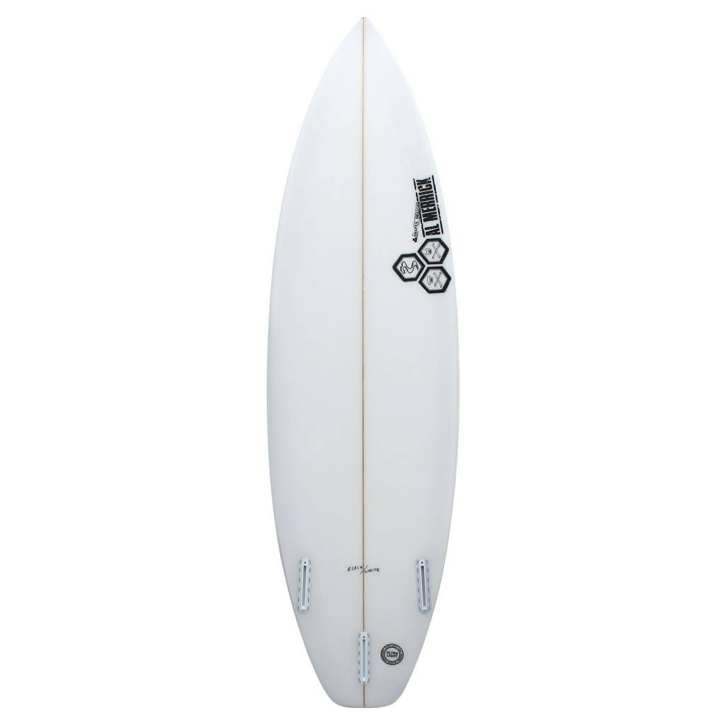 CHANNEL ISLANDS SURFBOARDS 5'10 BLACK /  WHITE FUTURES