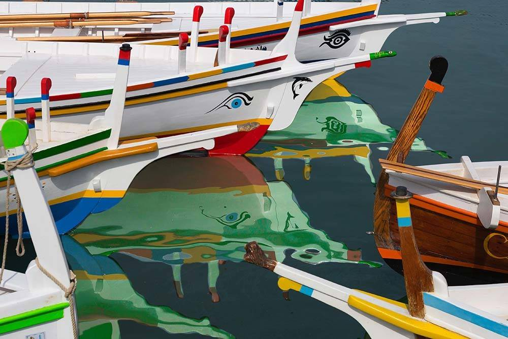 Colorful Boats By A Quino Print On Archival Paper The Picturalist