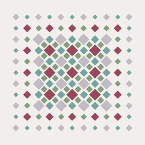 Print on Paper US250 - Diamonds in Green and Pink