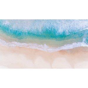Facemount Metal - Aqua Waves UV Printed on Metal
