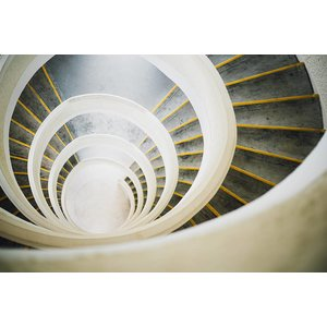 Facemount Acrylic - Circular Stairwell 1/4 Inch Thick Acrylic Glass