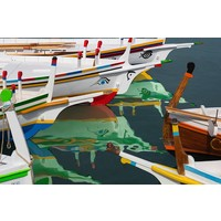 Facemount Metal - Colorful Boats UV Printed on Metal