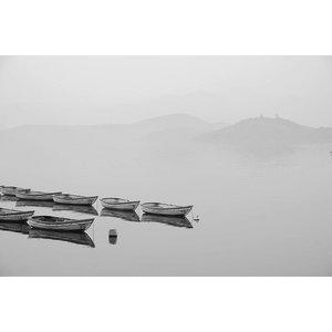 Facemount Metal - White Canoe UV Printed on Metal