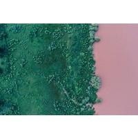 Facemount Metal - Green and Pink UV Printed on Metal