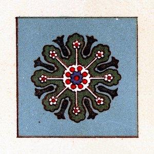 Print on Paper US250 - Cement Tile Blue Clover
