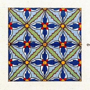 Print on Paper US250 - Cement Tile Cornflower
