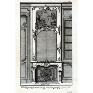 Print on Paper US250 - Architectural Details French Fireplace Mantel