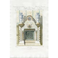 Print on Paper US250 - Architectural Colored Elevation of a French Chimney Mantel