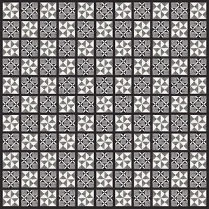 Print on Paper US250 - Africa Ashanti Adinkra Textile in Black and White
