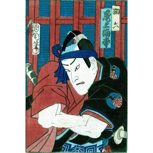 Print on Paper US250 - Japanese Kabuki Sketches by Toyohara Kunichika 3