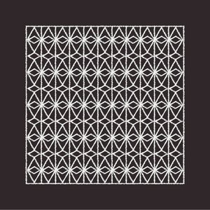 Print on Paper US250 - Textile Pattern in Black and White 2