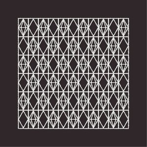 Print on Paper US250 - Textile Pattern from Africa in Black and White