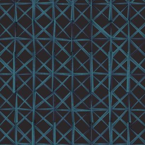 Print on Paper US250 - African Dogon Stitch Textile in Black and Blue