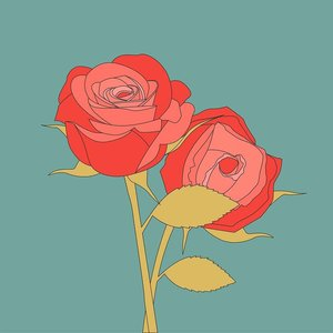Print on Paper US250 - Roses Rosaceae by Alejandro Franseschini