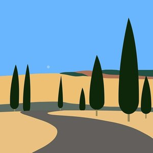 Print on Paper US250 - Tuscan Landscape