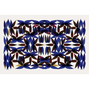 Print on Paper US250 - Kaleidoscope View in Blue