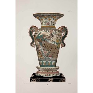 Print on Paper US250 - Chinese Vase in Green and Pink