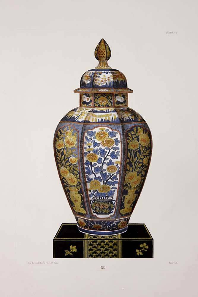 Chinese Vase In Blue And Yellow The Picturalist