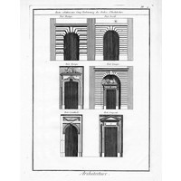 "Print on Paper US250 - Architectural Details ""Portes relatives aux Cinq Ordonnances"""