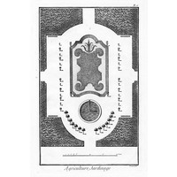 Print on Paper US250 - Architectural Drawing Plan of French Garden 2