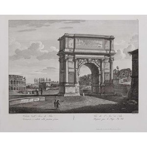 Print on Paper US250 - Print of a restored Titus Arch in Rome prepared for the Pope Pius VII