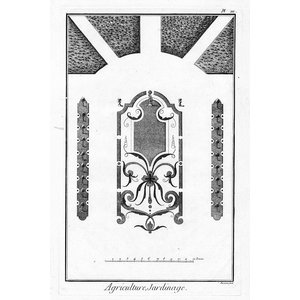 Print on Paper US250 - Architectural Drawing Plan of French Garden 3