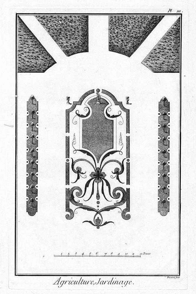 Architectural Drawing Plan Of French Garden 3 The